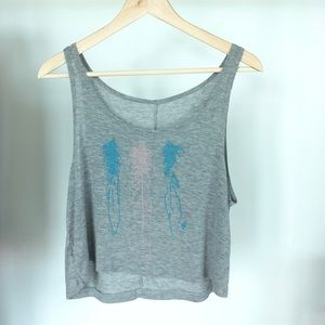 Brandy Melville Gray Crop Tank Top